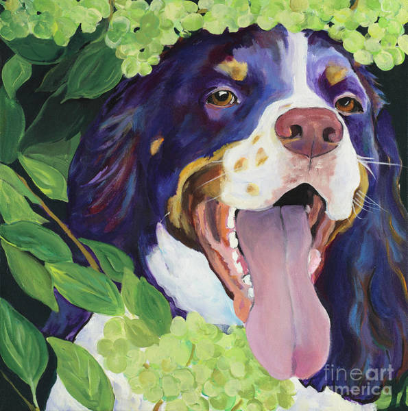 Painting -  Peek-a-boo by Pat Saunders-White