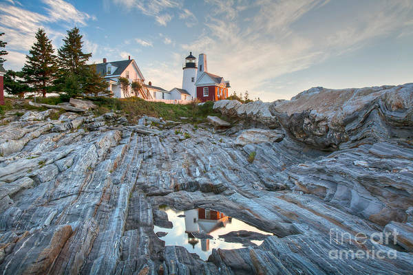 Wall Art - Photograph -  Pemaquid Point Reflection by Susan Cole Kelly