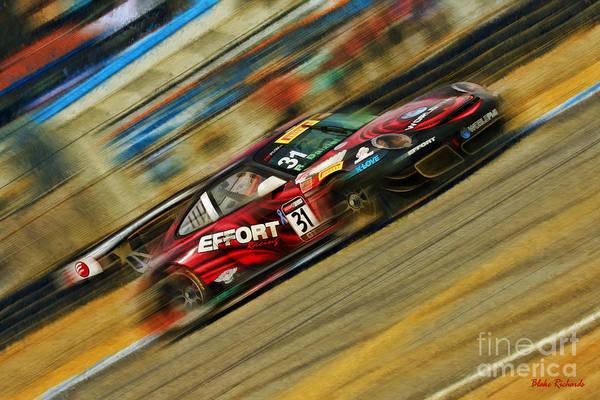 Photograph -  Pirelli World Challenge Ryan Dalziel Porsche Gt3r by Blake Richards