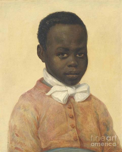 Confident Painting -  Portrait Of A Boy by MotionAge Designs