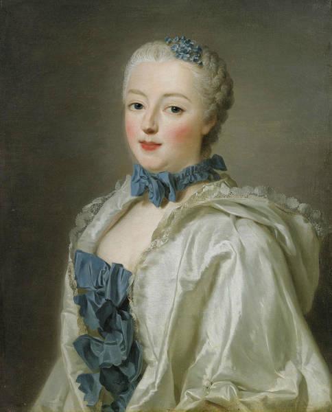 Painting -  Portrait Of Francoise-marguerite De Sevigne  by Alexander Roslin