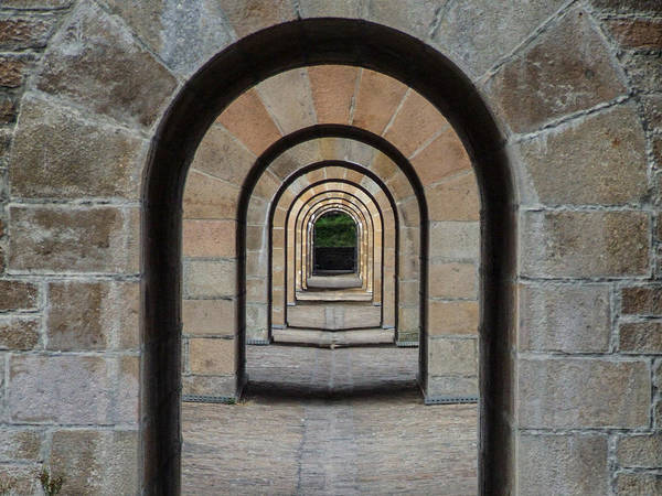 Photograph -  Receding Arches by Helen Northcott