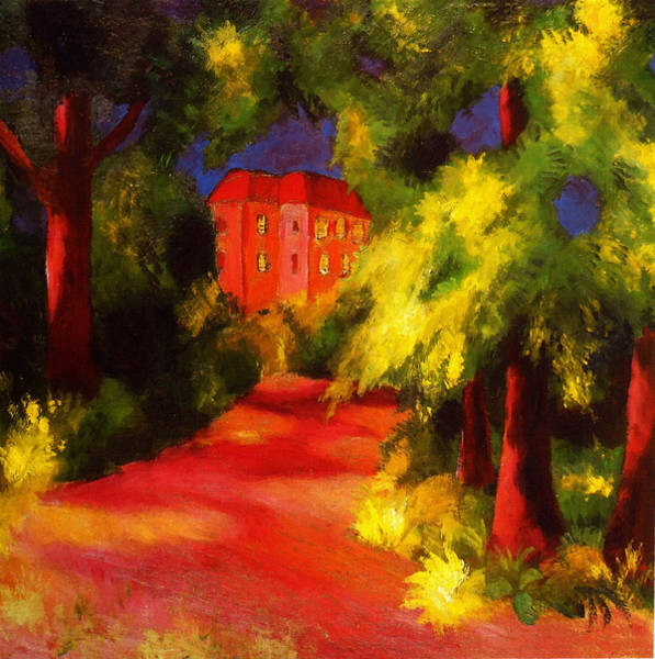 Painting -  Red House by August Macke