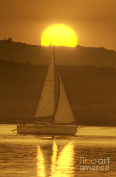 Photograph -  Sailing Into The Sunset by Odon Czintos