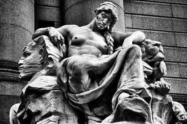 Photograph -  Sculpture In Downtown Nyc by Val Black Russian Tourchin