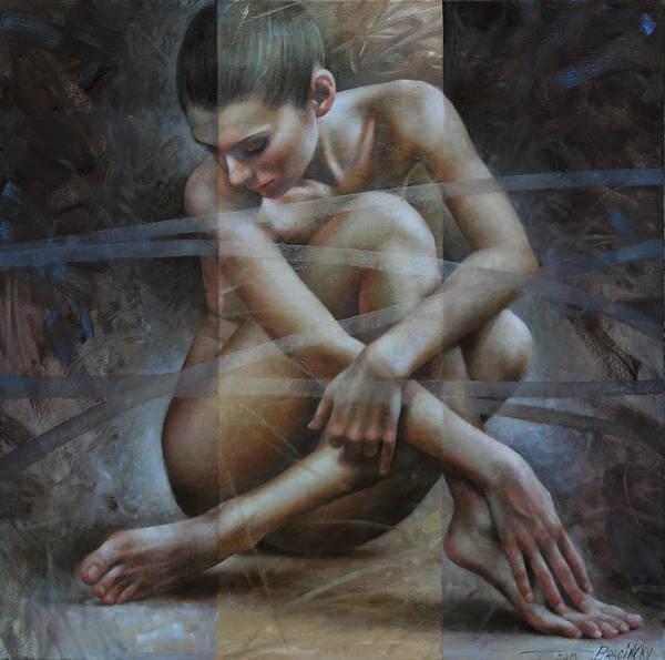 Arthurs Seat Painting -  Seated Nude by Arthur Braginsky