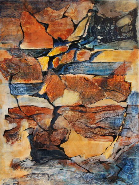 Painting -  Sedimentary Strata by Kathie Selinger