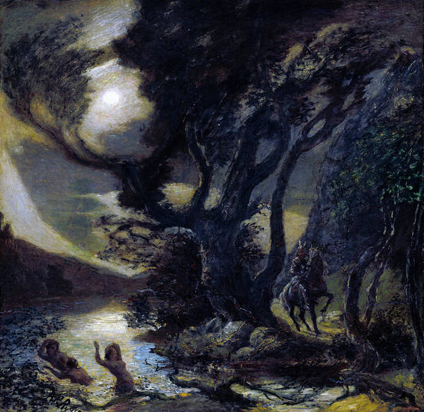 Painting -  Siegfried And The Rhine Maidens by Albert Pinkham Ryder