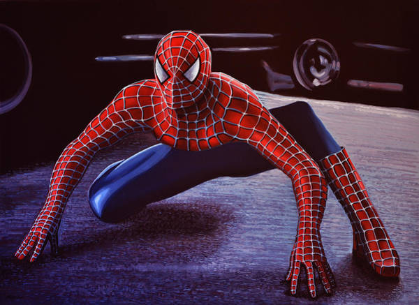 Men Painting -  Spiderman 2  by Paul Meijering