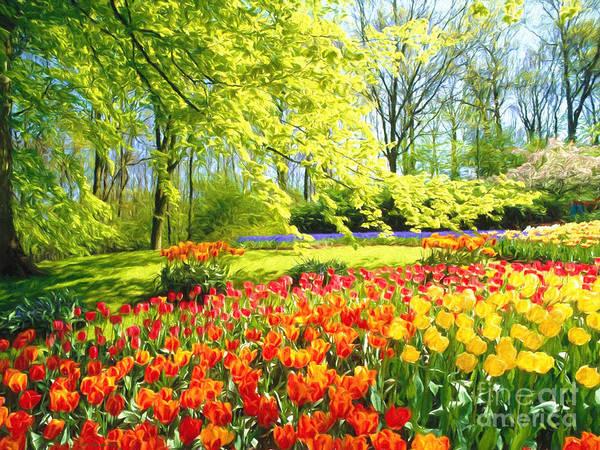 Painterly Painting -  Spring Garden by Veikko Suikkanen