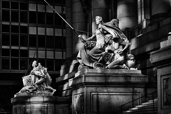 Photograph -  Statues By Entrance To Museum by Val Black Russian Tourchin
