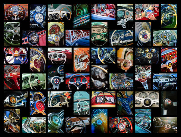 Photograph -  Steering Wheel Art  -01 by Jill Reger