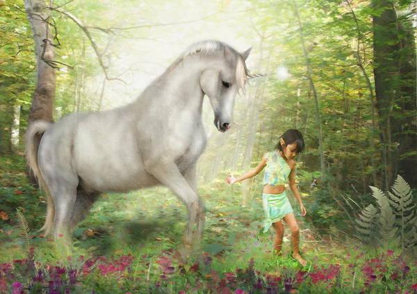 Wall Art - Digital Art -  Stella And The Unicorn by Trudi Simmonds