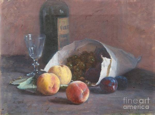 Painting -  Still Life With Fruits by Celestial Images