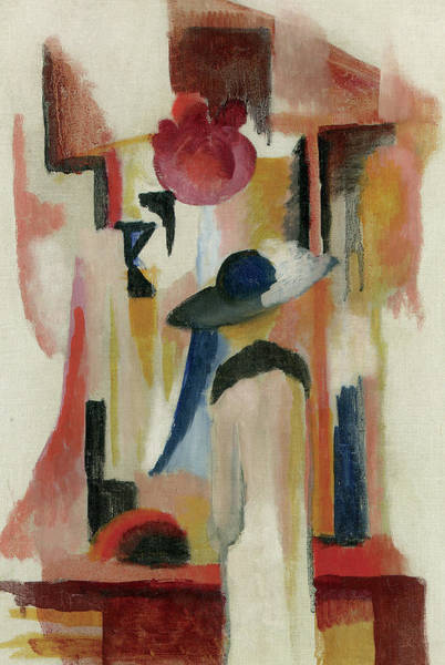 Wall Art - Painting -  Study Of A Bright Shop Window by August Macke