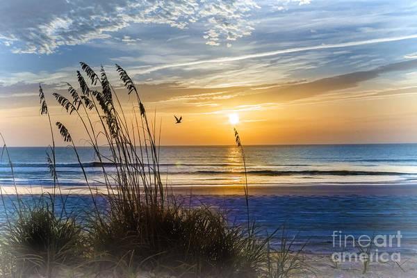 Saint Augustine Beach Wall Art - Photograph -  Summer Sunrise by C W Hooper