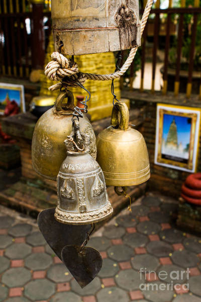 Wall Art - Photograph -  Temple Bell by Honey Bee