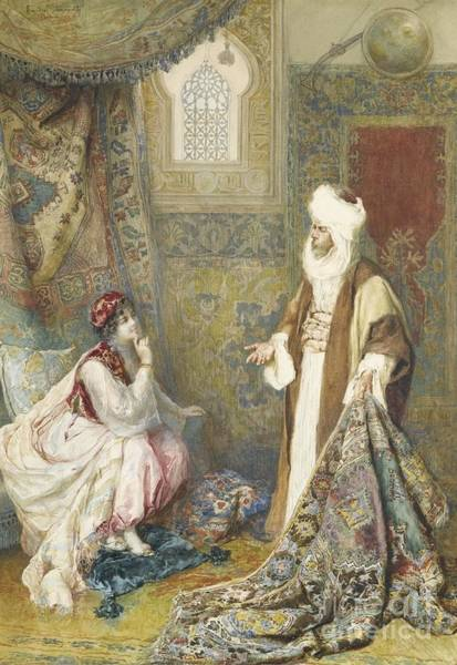 Painting -  The Carpet Seller by Celestial Images
