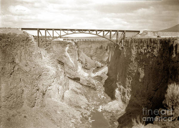 Photograph -  The Crooked River High Bridge Is A Steel Arch Bridge That Spans Oregon Built In 1926  Circa 1929 by California Views Archives Mr Pat Hathaway Archives