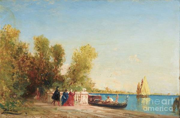 Painting -  The French Gardens Of Venice by Celestial Images