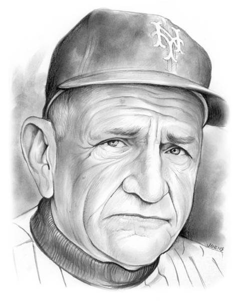 Sports Drawing -   The Old Perfessor by Greg Joens