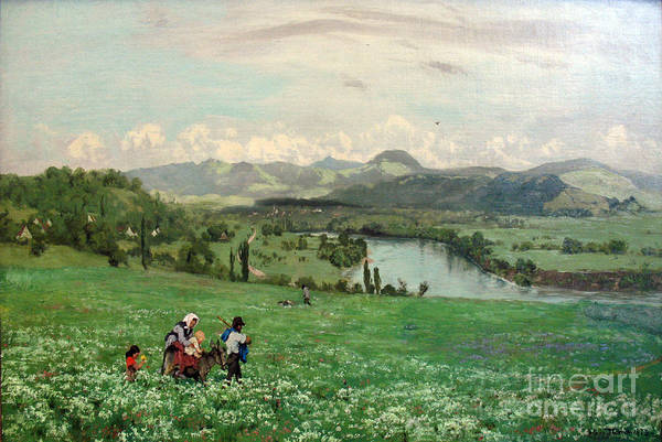 Painting -  The Rhine Near Saeckingen by Celestial Images