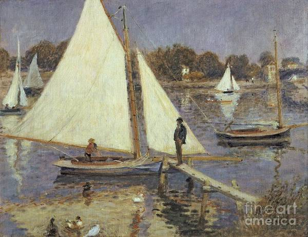 Jetty Painting -  The Seine At Argenteuil by Pierre Auguste Renoir