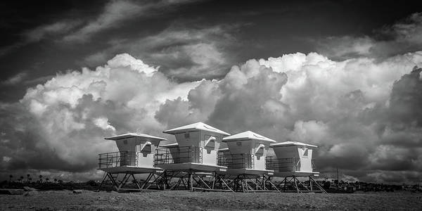 Big Sky Photograph -  Towers Waiting For Summer  Black And White by Peter Tellone