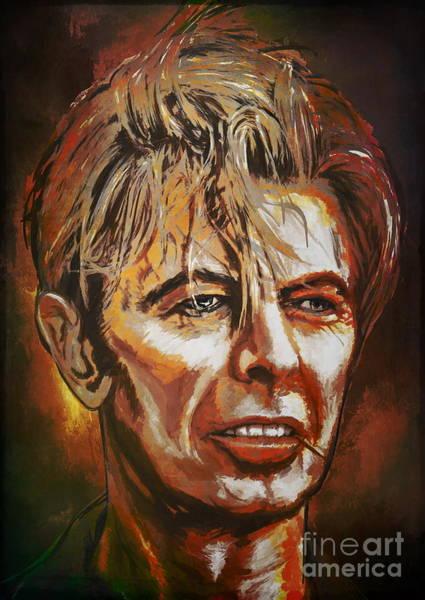 David Bowie Painting -  Tribute To David by Andrzej Szczerski