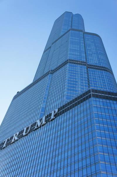 Chicago Tribune Wall Art - Photograph -  Trump Tower, Chicago. by Art Spectrum