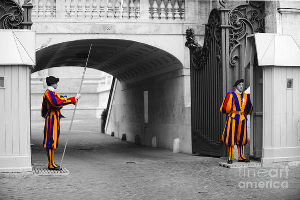 Sentry Box Photograph -  Vatican Swiss Guard by Stefano Senise