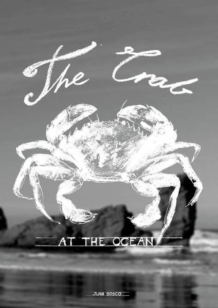 Crab Painting -  Velvet Crab, by Juan Bosco