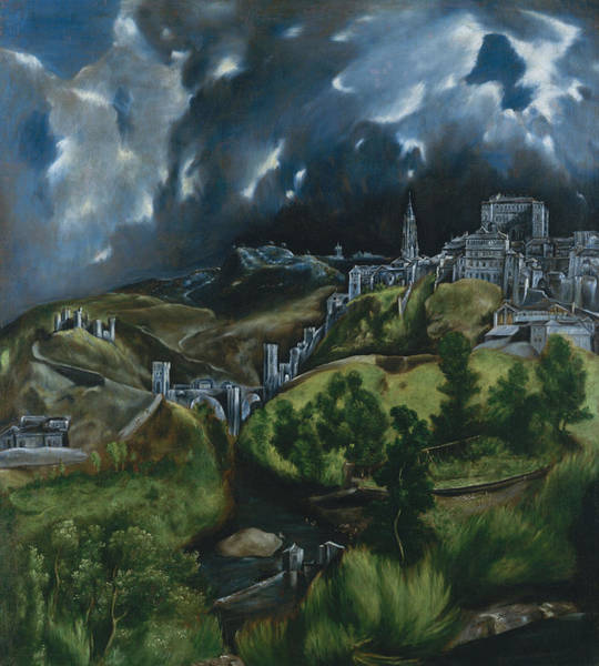 Wall Art - Painting -  View Of Toledo by El Greco