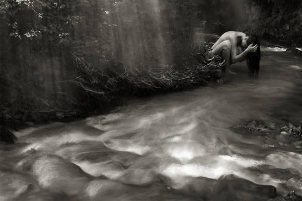 Wall Art - Photograph -  Washing Hair by Floriana Barbu