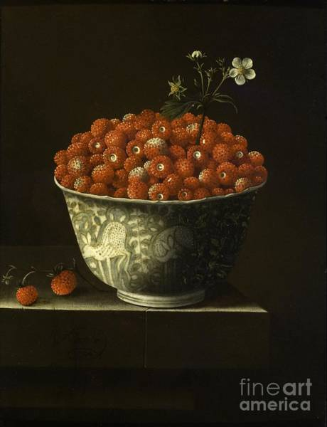 Painting -  Wild Strawberries In A Wan Li Bowl by Celestial Images