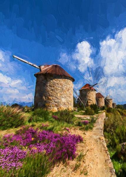 Windmills Of Portugal Art Print