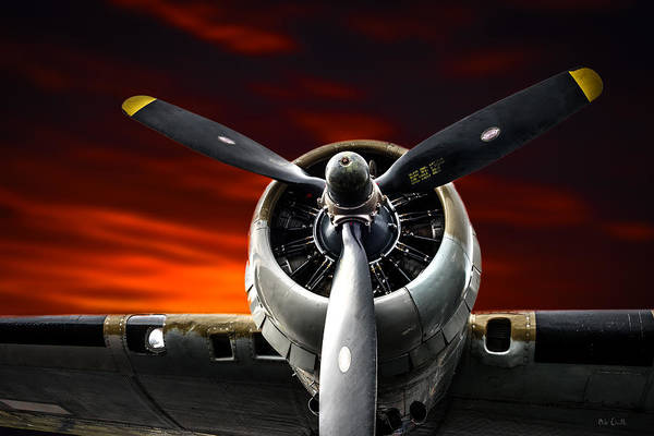 Photograph -  Wright Cyclone Boeing B-17 Flying Fortress by Bob Orsillo