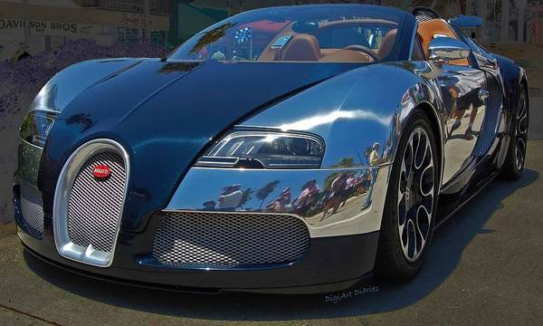 Bugatti Wall Art - Photograph - 0 To 60 In 2 by DigiArt Diaries by Vicky B Fuller