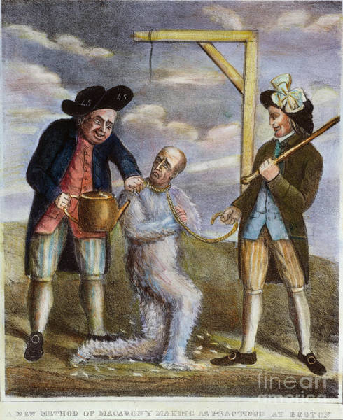 Painting - Tarring & Feathering, 1774 by Granger