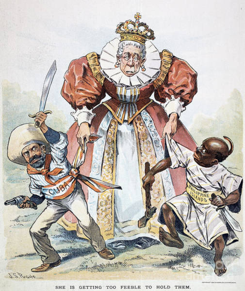 Political Cartoon Painting - Imperialism Cartoon, 1896 by Granger