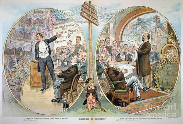 Painting - Business Cartoon, 1904 by Granger