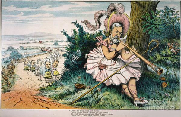 Wall Art - Painting - James Blaine Cartoon, 1884 by Granger