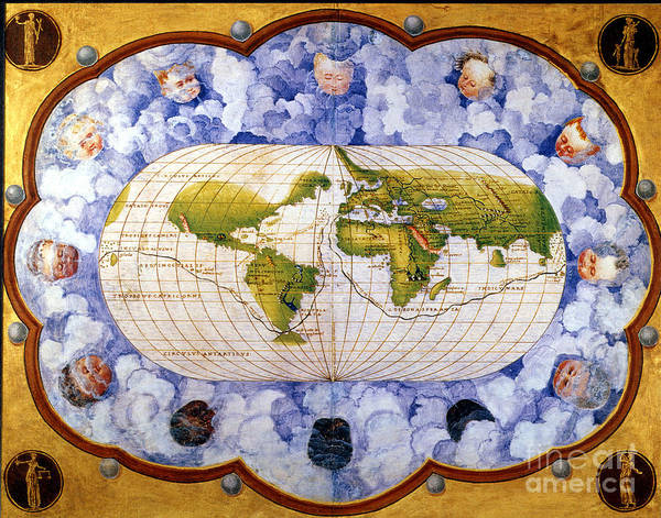 Painting - World Map by Granger