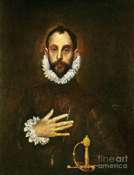 Painting - El Greco: Gentleman by Granger