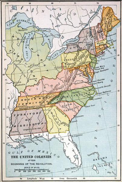Northwest Florida Painting - United States Map, C1791 by Granger
