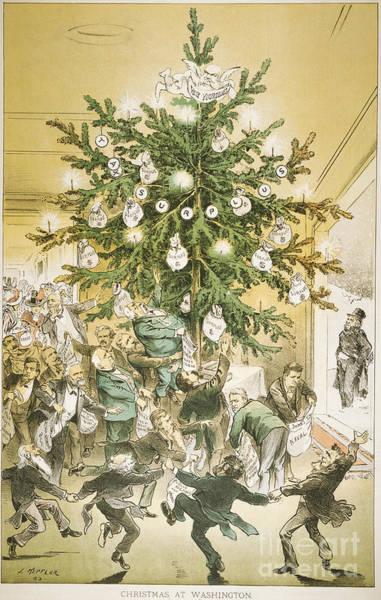 Painting - Treasury Cartoon, 1883 by Granger