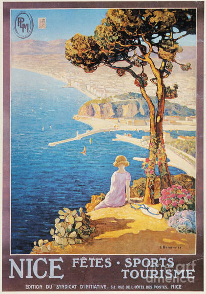 Painting - Nice, France, C1920 by Granger
