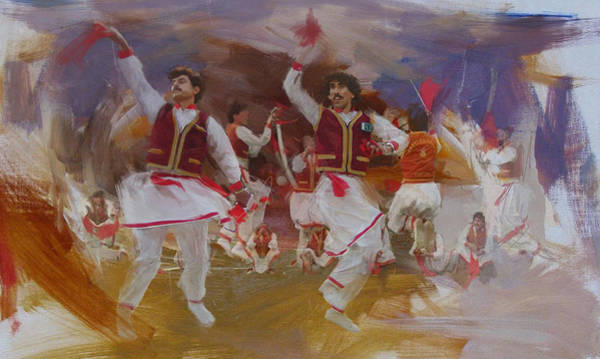 Sindhi Painting - 004 Pakhtun by Maryam Mughal