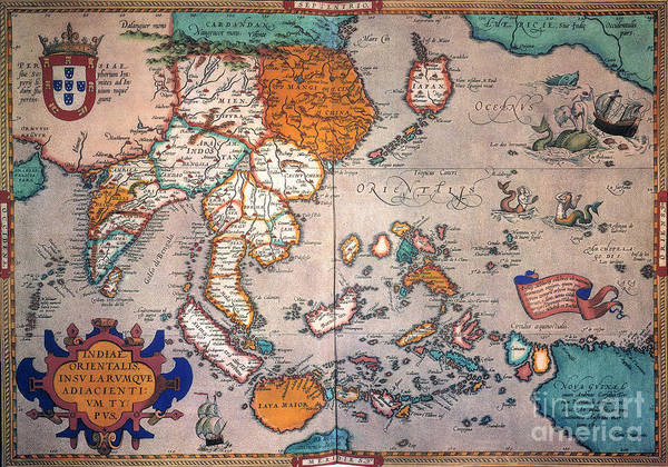 Painting - Pacific Ocean/asia, 1595 by Granger