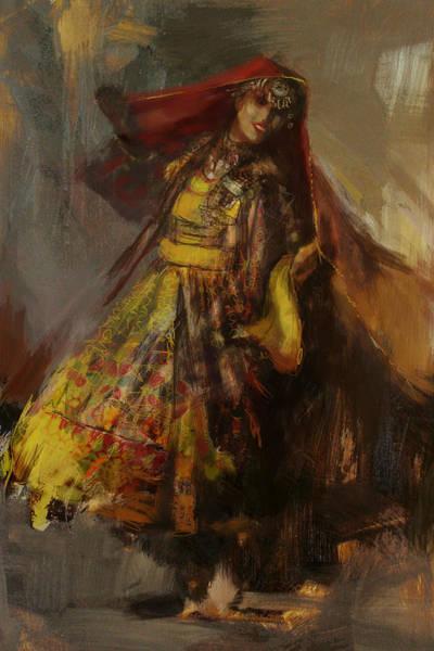 Punjab Painting - 008 Pakhtun B by Mahnoor Shah